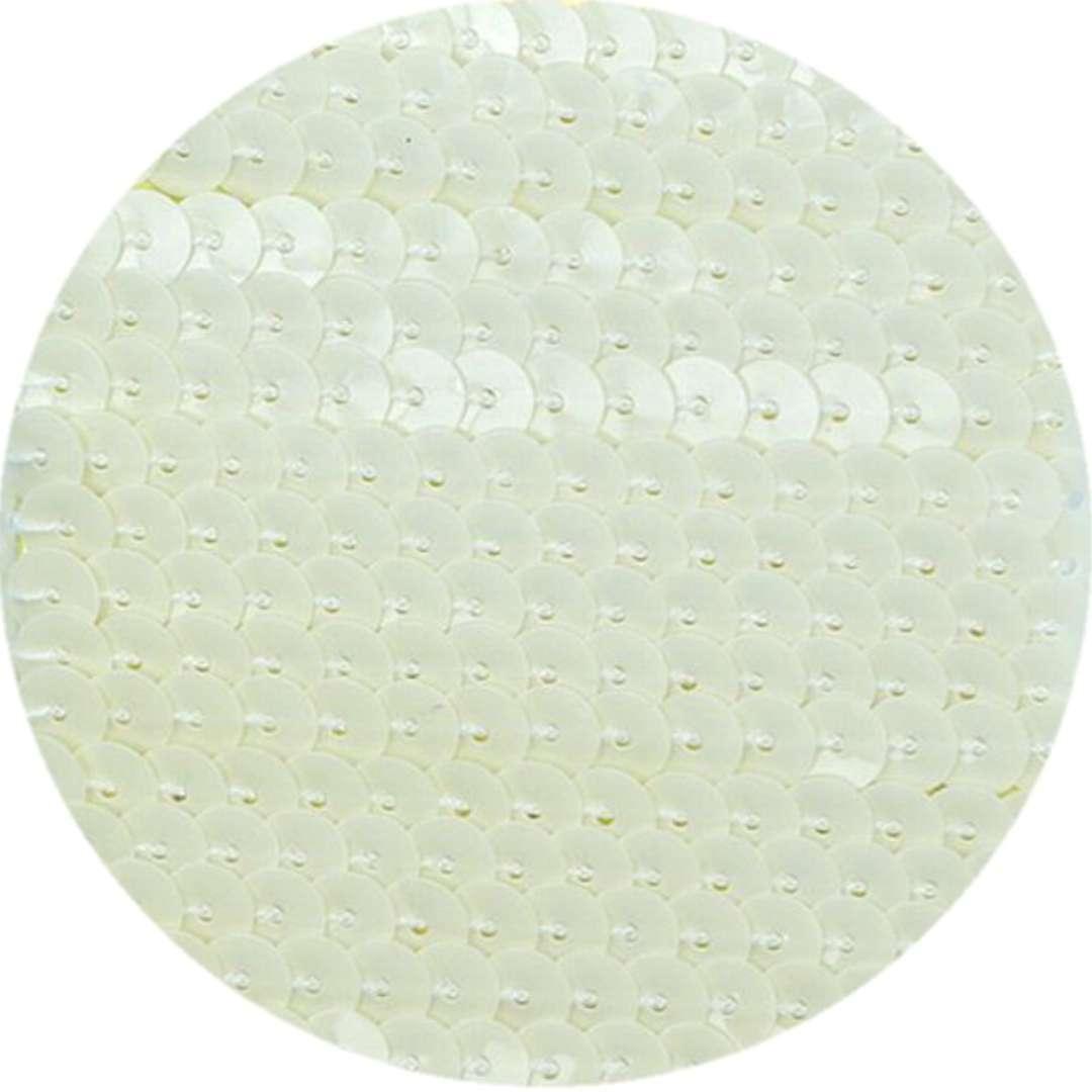 """Cekiny """"Na sznurku"""", białe, 6 mm, Titanum, 2 m"""
