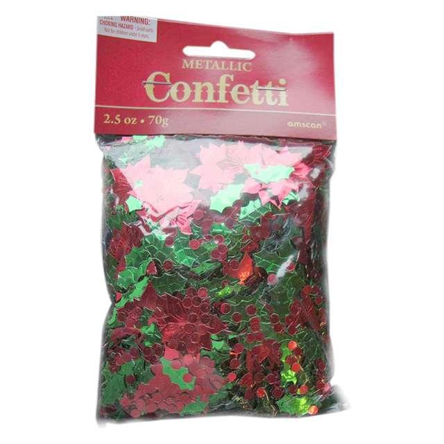 Konfetti Świąteczna Poisencja AMSCAN 70 g