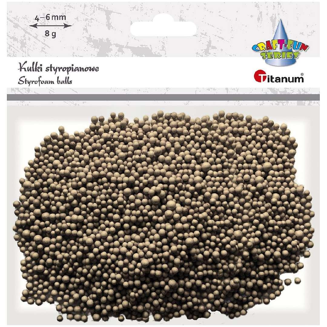 Styropian Kuleczki 4-6 mm brązowe jasne Titanum 8 g