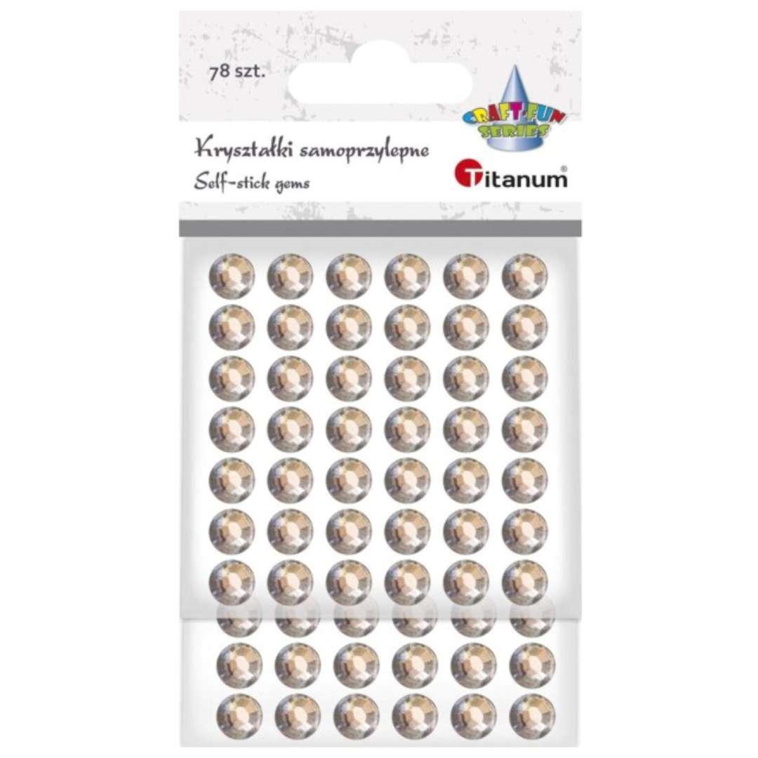 Dżety samoprzylepne Kryształki złoto-beżowe 78 szt Titanum
