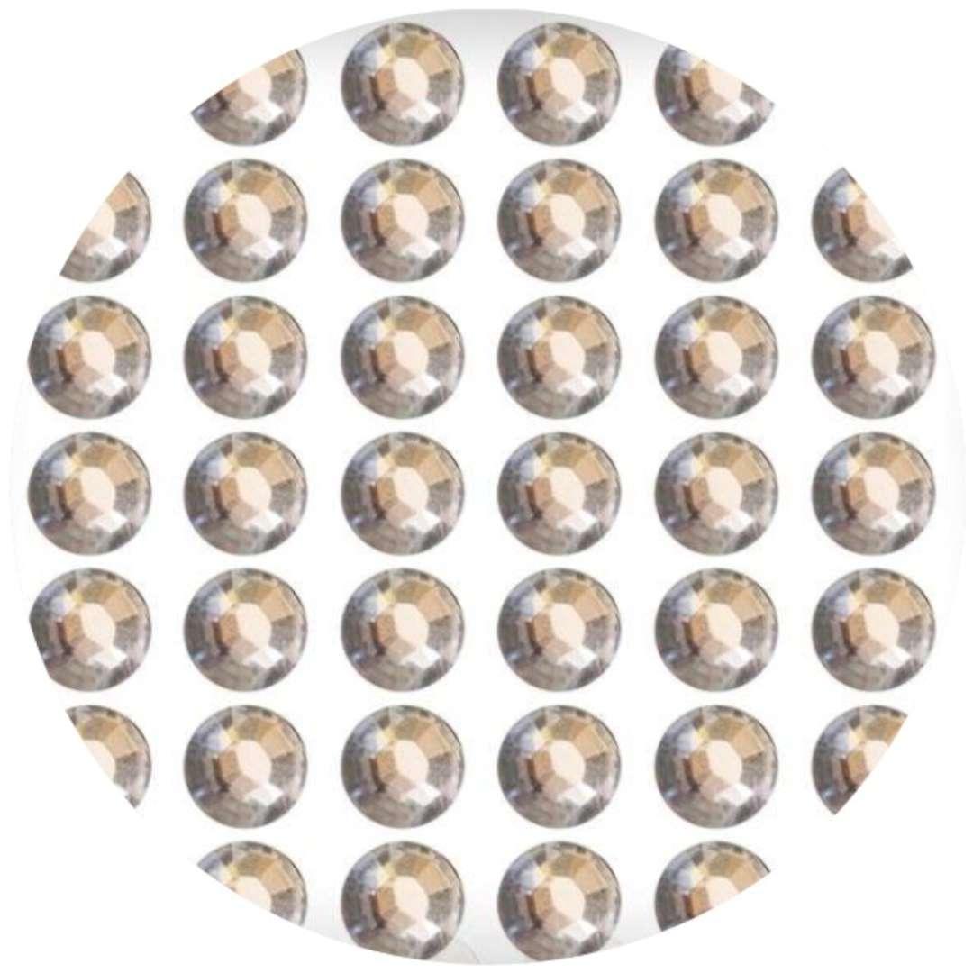"""Dżety samoprzylepne """"Kryształki"""", złoto-beżowe, 78 szt, Titanum"""