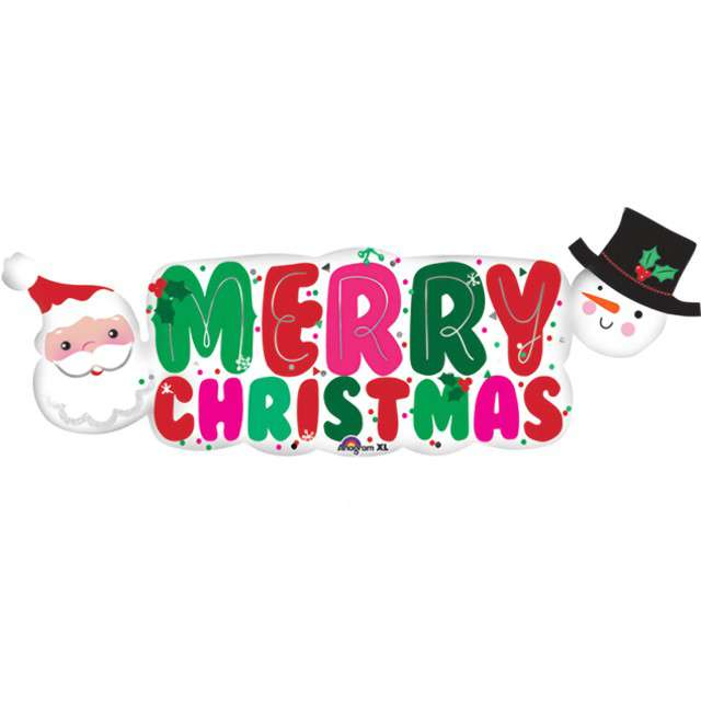"Balon foliowy ""Baner Merry Christmas"", Amscan, 41"" SHP"