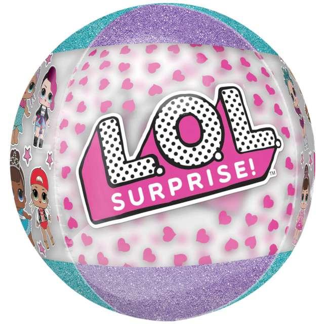 "Balon foliowy ""Brokatowy LoL Surprise"", Amscan, 16"" RND"