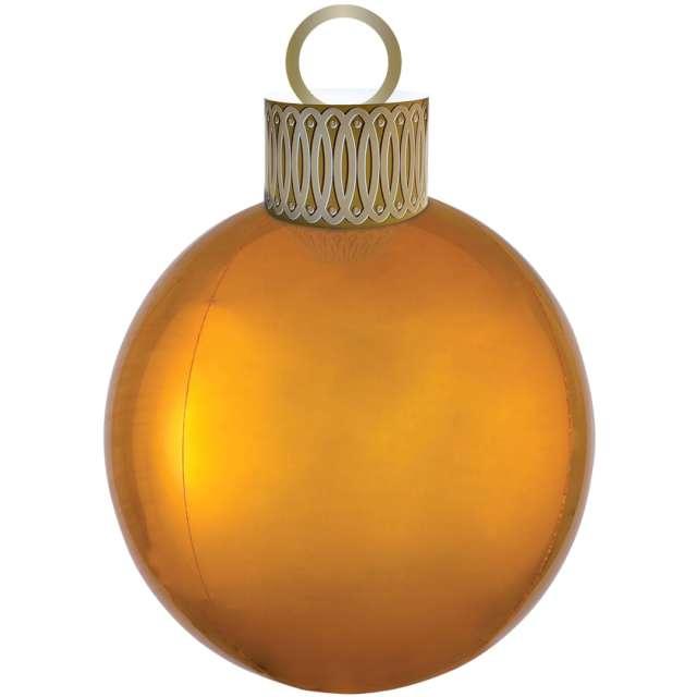 "Balon foliowy ""Bombka - Orbz XL"", złoty, Amscan, 38cm x 50cm, ORB"