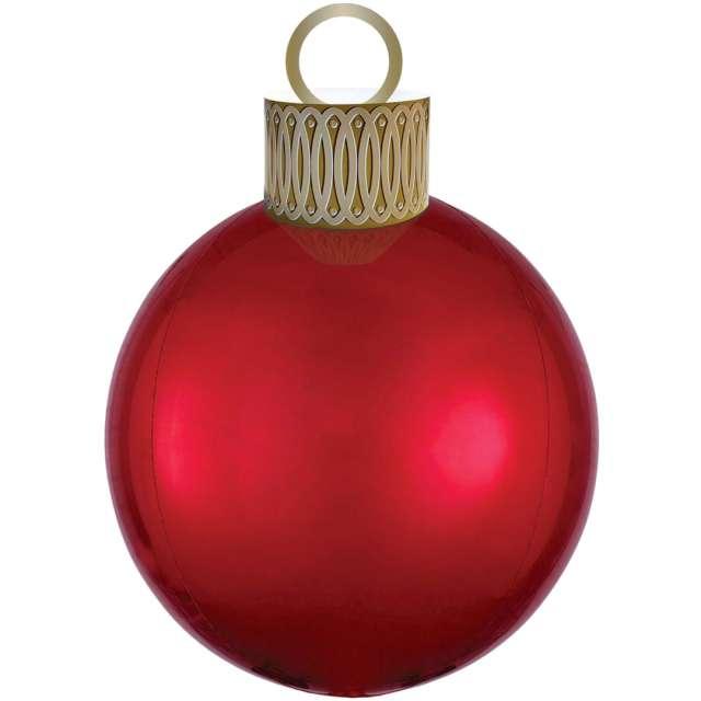 """Balon foliowy """"Bombka - Orbz XL"""", czerwony, Amscan, 38cm x 50cm, ORB"""