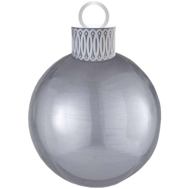 """Balon foliowy """"Bombka - Orbz XL"""", srebrny, Amscan, 38cm x 50cm, ORB"""