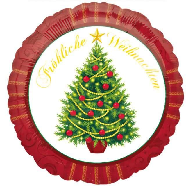 """Balon foliowy """"Fröhliche Weihnachten"""", Amscan, 17"""" RND"""