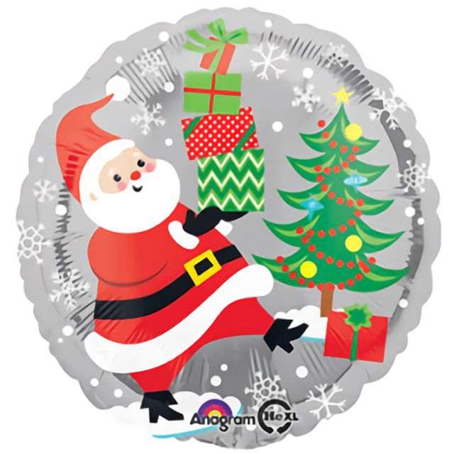 """Balon foliowy """"Święty Mikołaj, pingwiny i bałwanki"""", Amscan, 17"""" RND"""