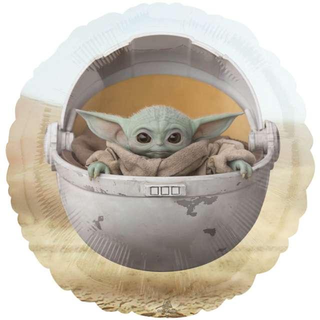 "Balon foliowy ""Baby Yoda - The Mandalorian"", Amscan, 18"" SHP"