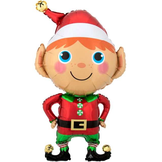 """Balon foliowy """"Świąteczny Elf"""", Amscan, 35"""" SHP"""