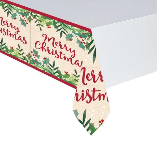 Obrus foliowy Merry Christmas Amscan 137 x 243 cm