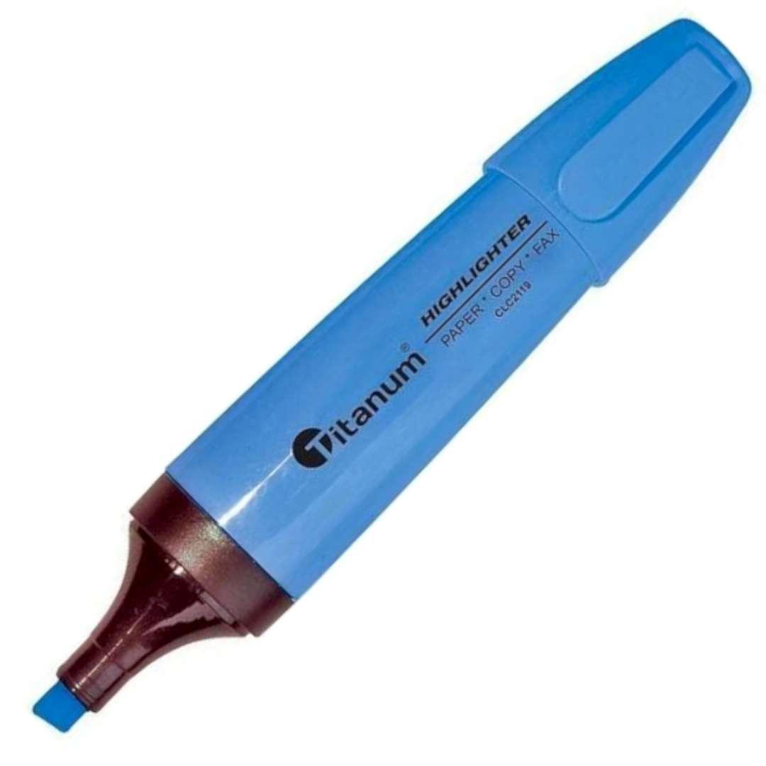 """Zakreślacz """"Ścięty"""", niebieski, Titanum, 1 - 5 mm"""