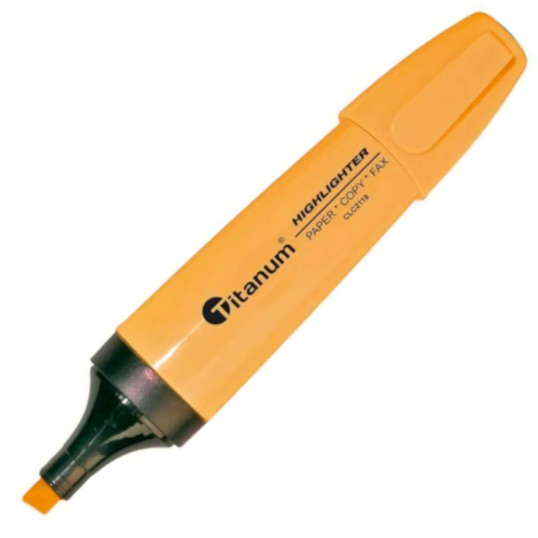 """Zakreślacz """"Ścięty"""", pomarańczowy, Titanum, 1 - 5 mm"""