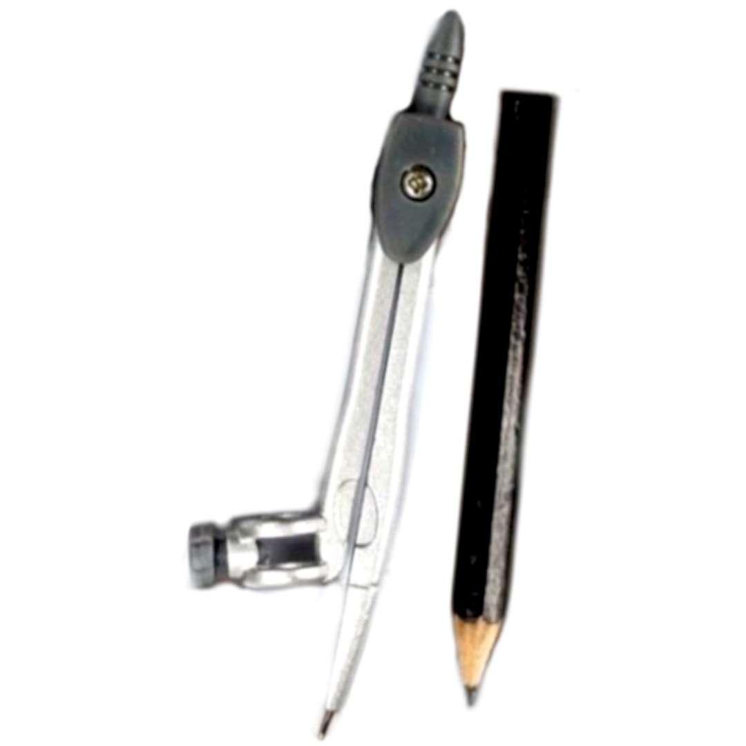 """Cyrkiel """"Classic z ołówkiem"""", szary, Titanum"""