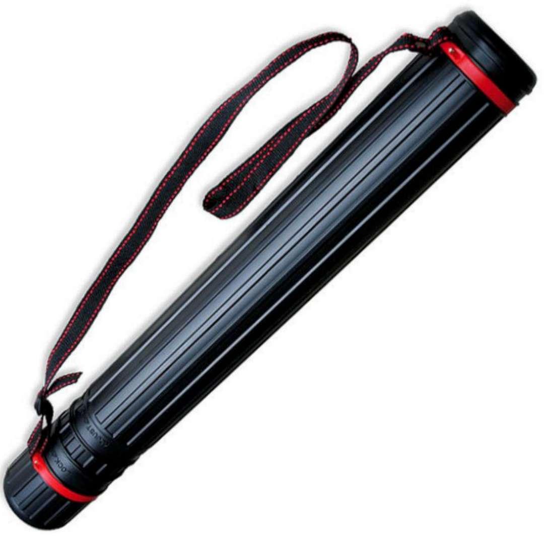 """Tuba kreślarska """"Regular XL"""", czarna, Titanum, 60-110x8,5 cm"""