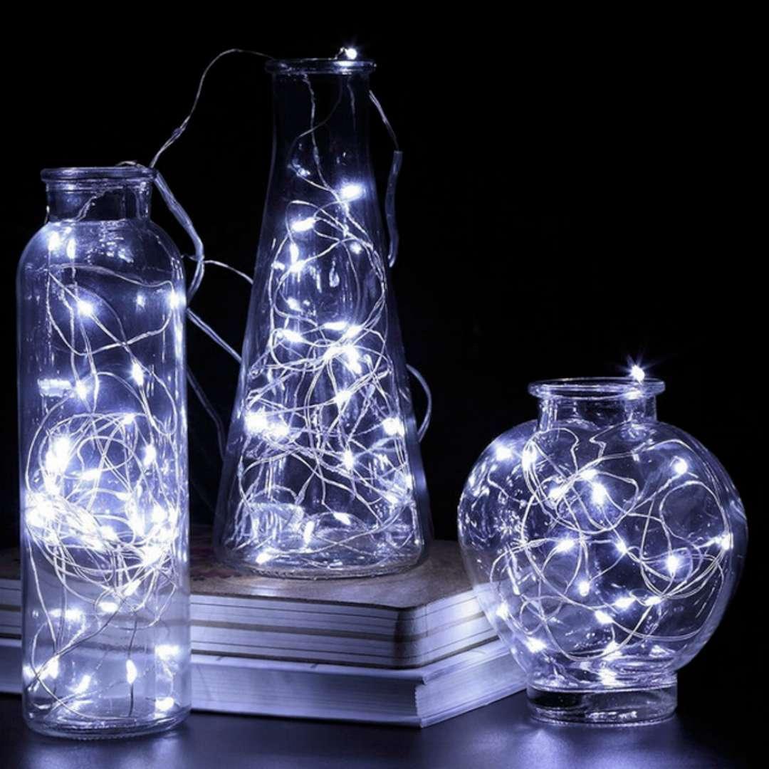 Lampki Mikro LED białe zimne Czakos 2 m