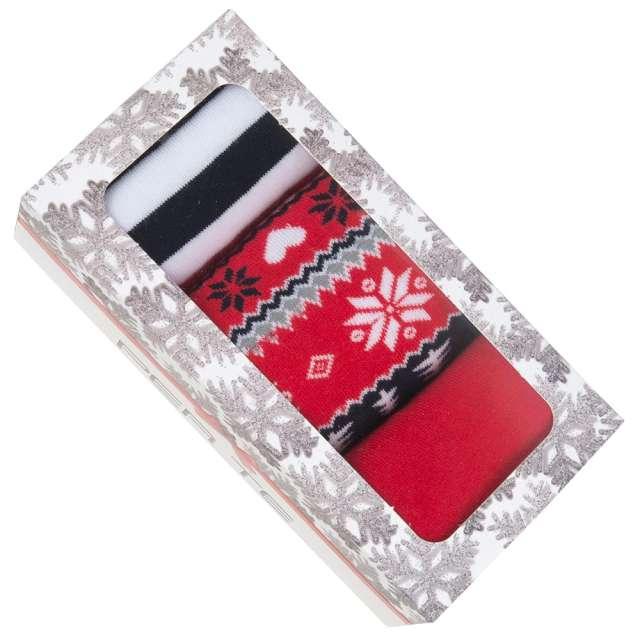 Skarpetki Świąteczny BOX 1 damskie 35-37 3 pary Czakos