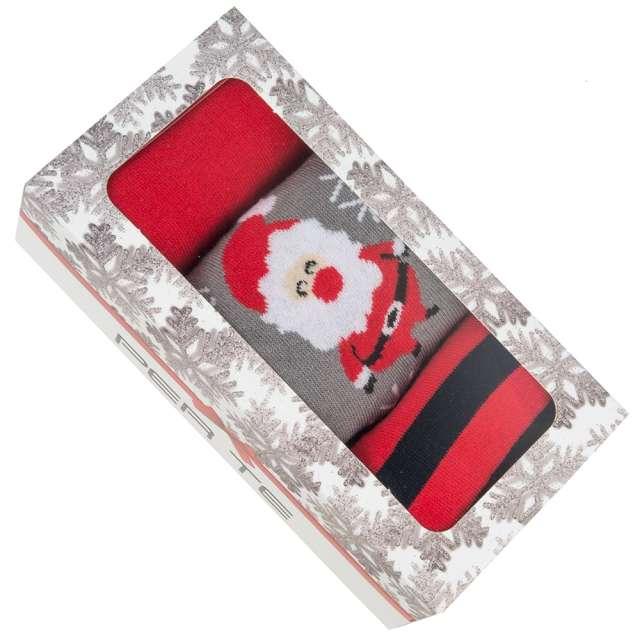 Skarpetki Świąteczny BOX 2 damskie 35-37 3 pary Czakos