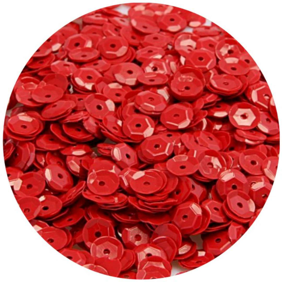 """Cekiny """"Classic Metalic"""", czerwone, 9 mm, 15 g, Arpex"""