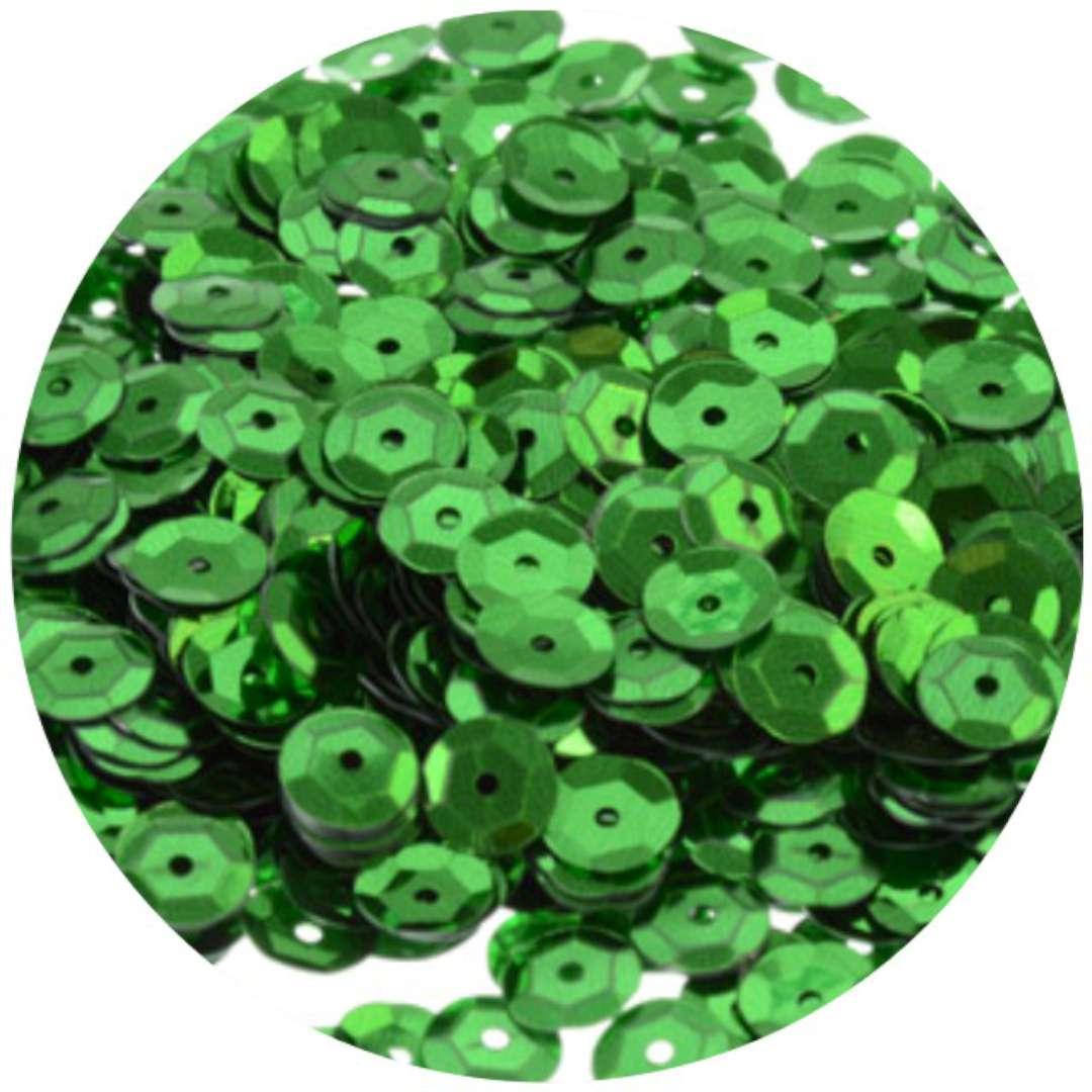 "Cekiny ""Classic Metalic"", zielone, 9 mm, 15 g, Arpex"