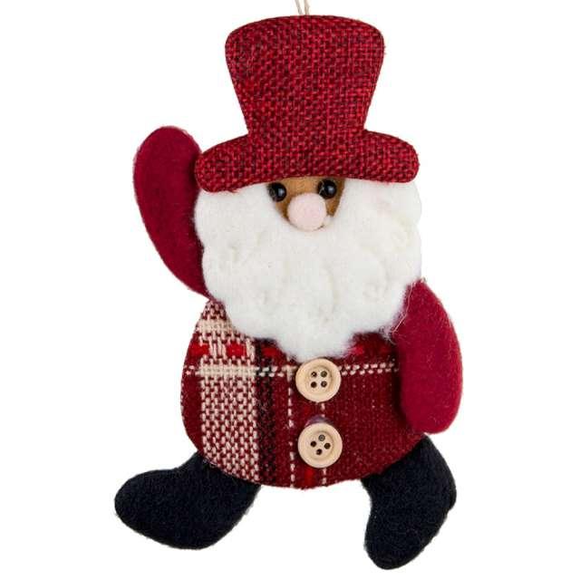 """Zawieszka na choinkę """"Mikołaj w czerwonym kapeluszu"""", Czakos, 20 cm"""