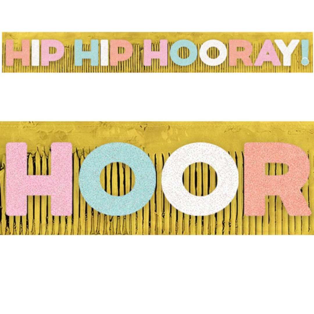 "Baner ""Hip Hip Hooray"", Amscan, 304 cm"