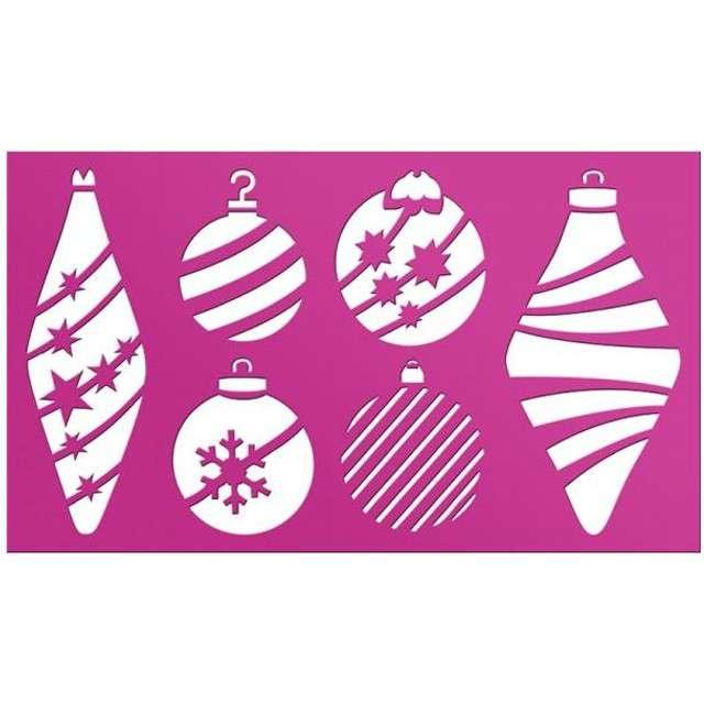 """Szablony dekoracyjne """"Boże Narodzenie - bombki"""", Titanum"""