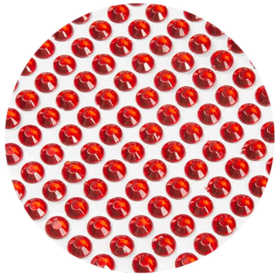 """Dżety samoprzylepne """"Kryształki"""", czerwone, 3 mm, 750 szt"""
