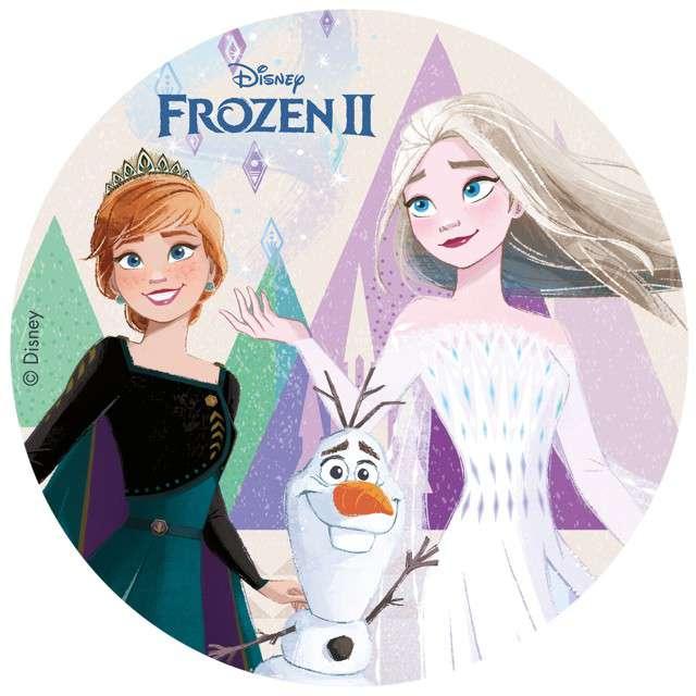 """Dekoracja tortu - opłatek elastyczny bezglutenowy """"Frozen II"""", 20 cm, Dekora"""