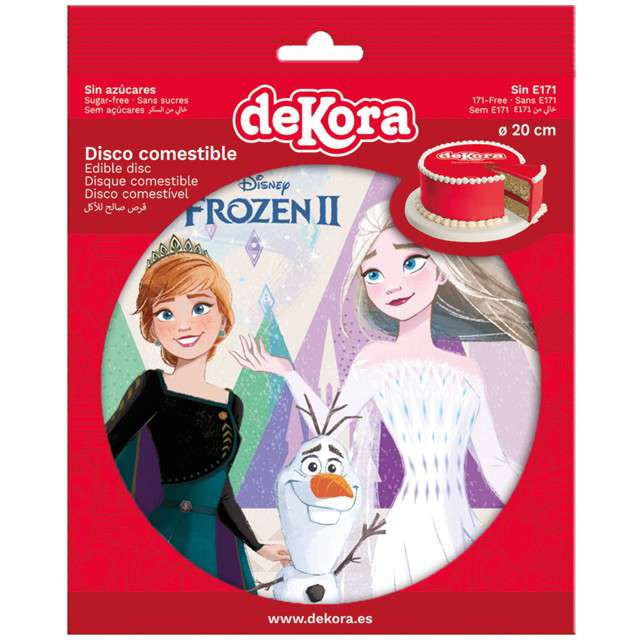 Dekoracja tortu - opłatek elastyczny bezglutenowy Frozen II 20 cm Dekora