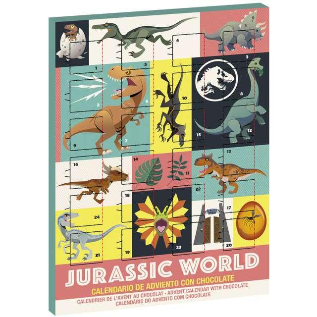 """Kalendarz adwentowy """"Dinozaury z czekoladkami"""", Jurassic Words, Dekora"""