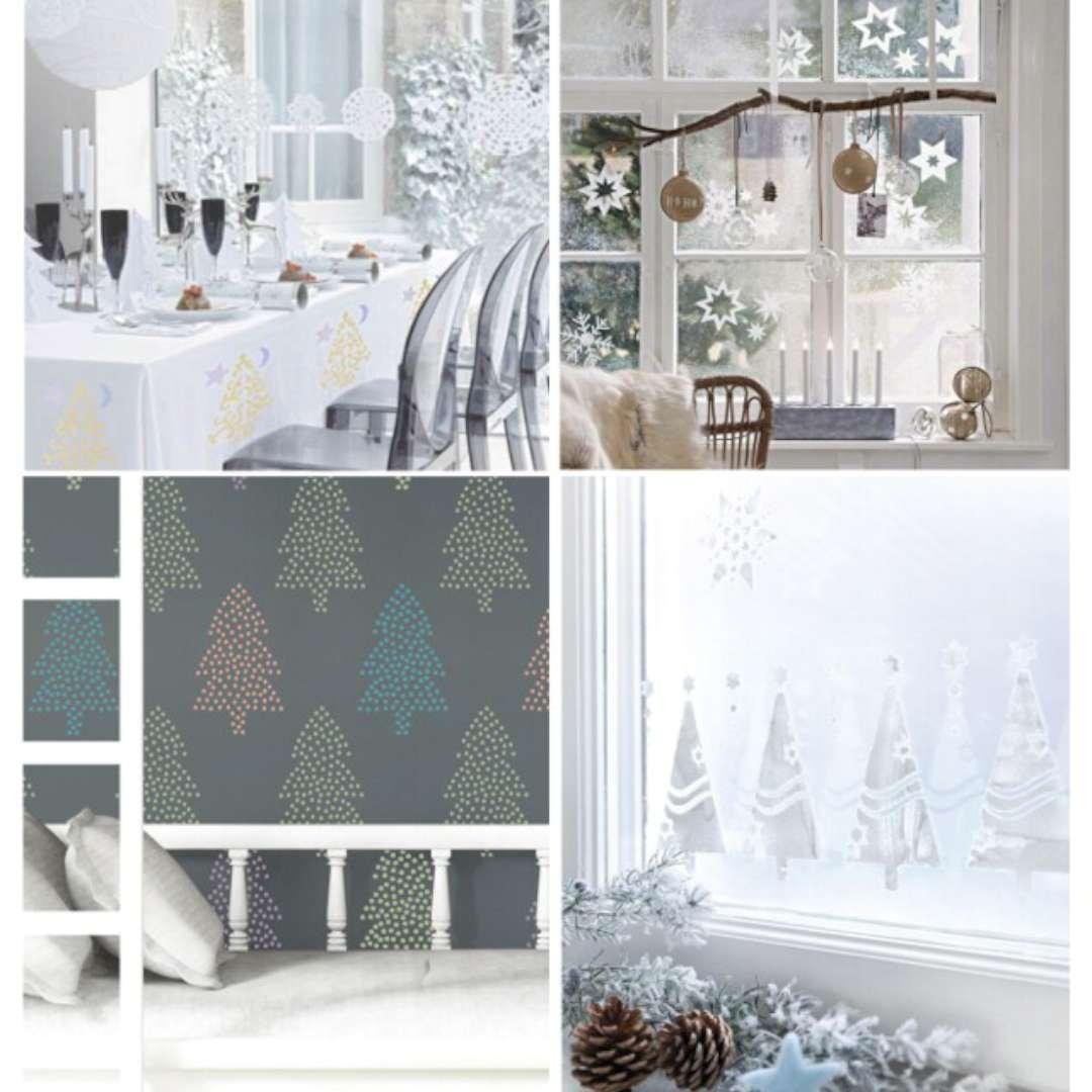 Szablony dekoracyjne Boże Narodzenie - śnieżynki Titanum