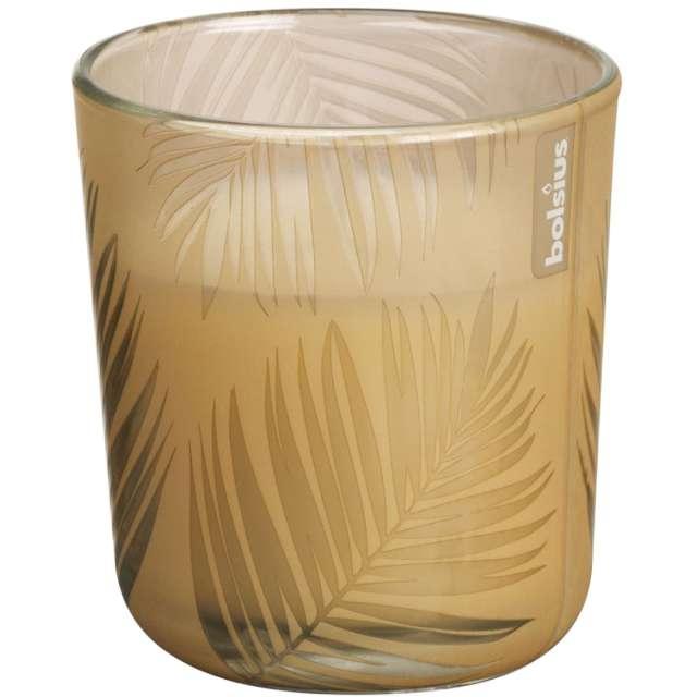 Świeca w szkle Kremowa wanilia beżowa Bolsius 80 mm