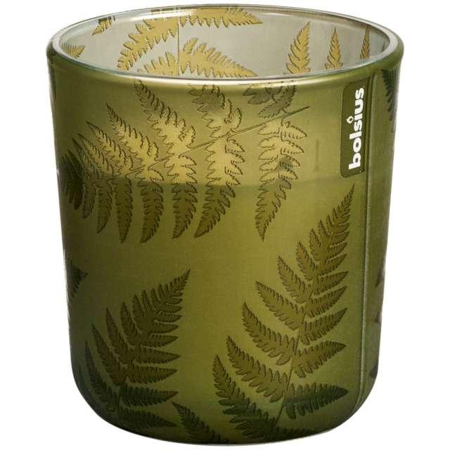 """Świeca w szkle """"Leśne SPA"""", zielona, Bolsius, 80 mm"""