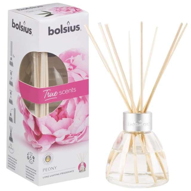 """Odświeżacz zapachowy """"True scents: piwonia"""", patyczki, Bolsius, 45 ml"""