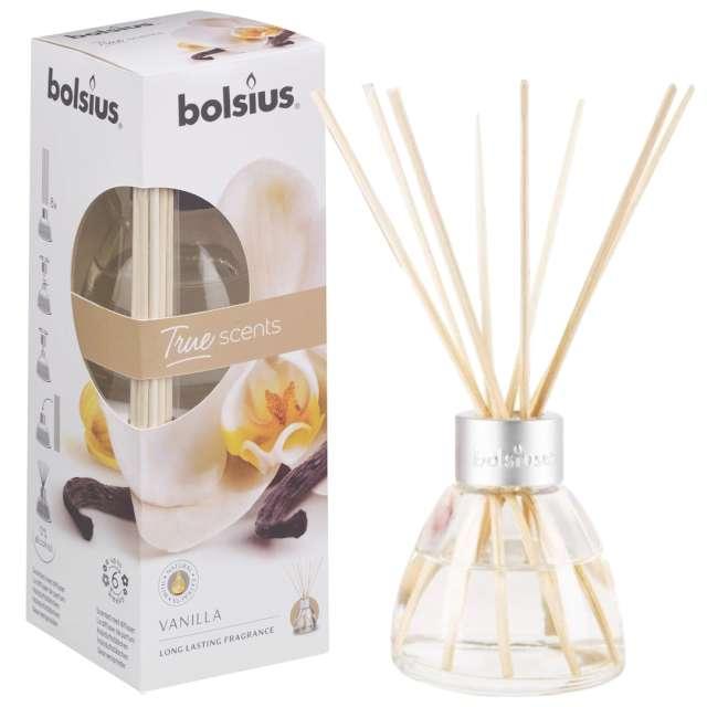 """Odświeżacz zapachowy """"True scents: wanilia"""", patyczki, Bolsius, 45 ml"""