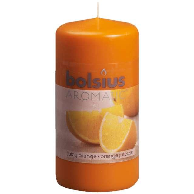 Świeca pieńkowa zapachowa Soczysta pomarańcza oranż Bolsius 120/60mm