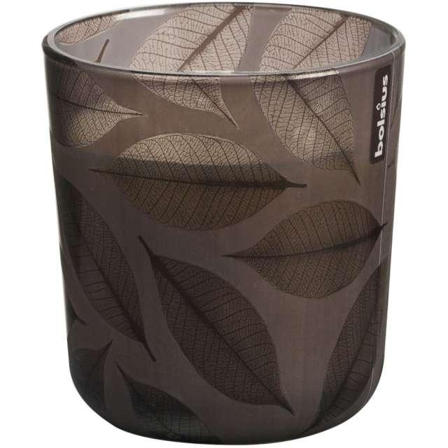 """Świeca w szkle """"Jesienny spacer XL"""", brązowa, Bolsius, 97 mm"""