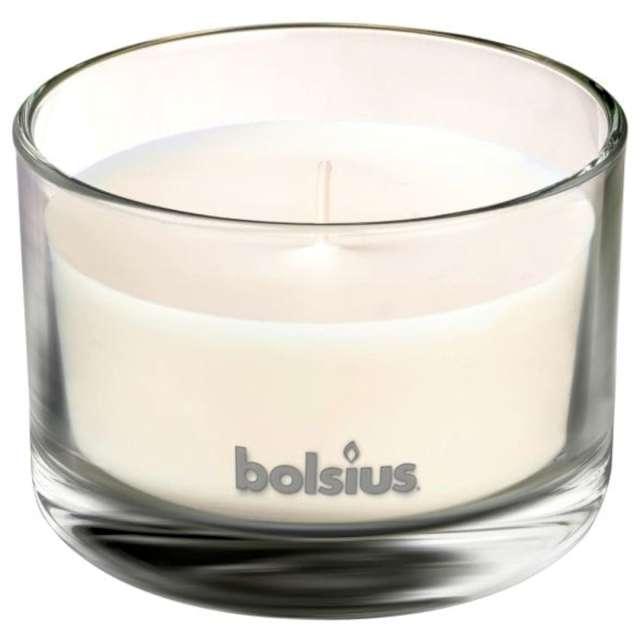 Świeca zapachowa w szkle T.M. Biała herbata i mięta Bolsius 63/90 mm