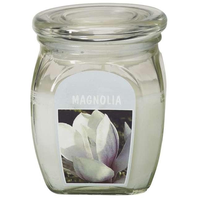 """Świeca zapachowa w szkle """"BigJar - Magnolia"""", biała, Bolsius, 120/92"""