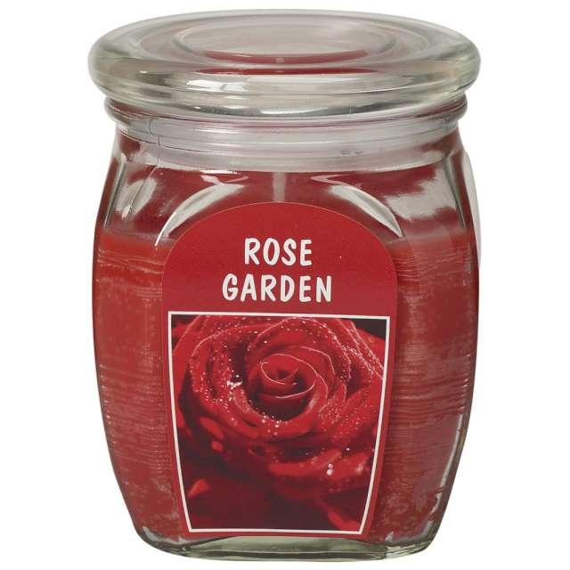 Świeca zapachowa w szkle BigJar - Różany Ogród czerwona Bolsius 120/92
