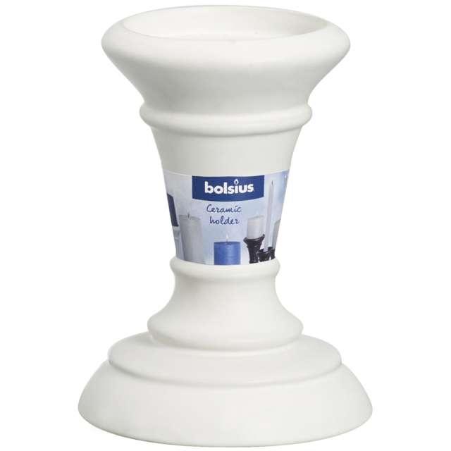 Świecznik Do świec pieńkowych i szpic biały Bolsius 95 cm
