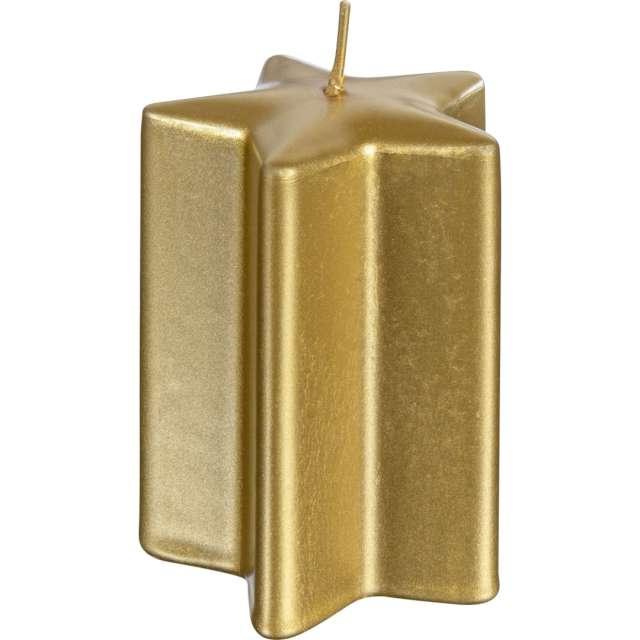"""Świeca """"Świąteczna Gwiazda"""", złota, Bolsius, 10 cm"""