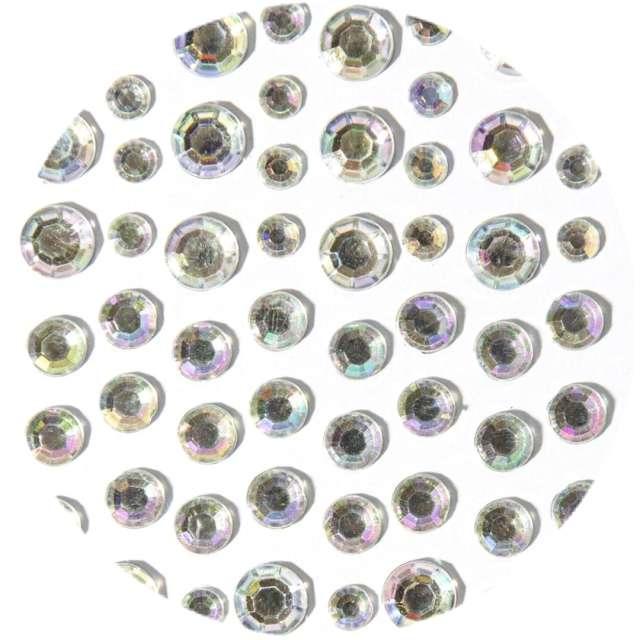 """Dżety samoprzylepne """"Kryształki diamenty"""", Aliga, mix, 28 szt"""