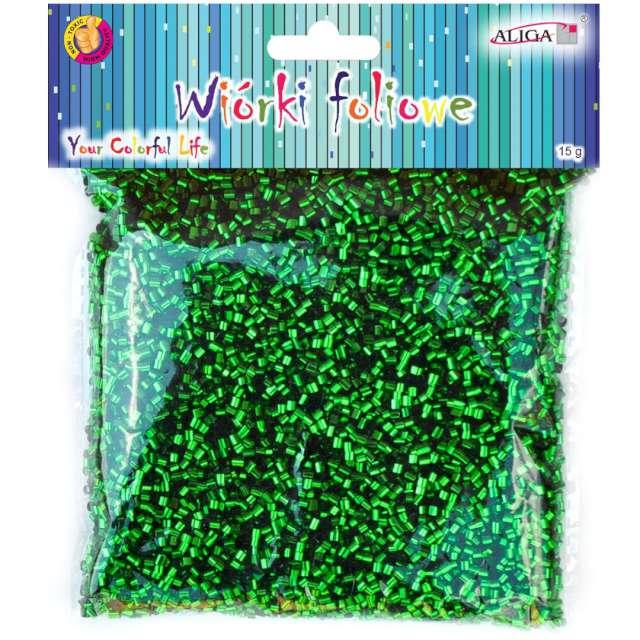 Wiórki Foliowe zielony Aliga 15g