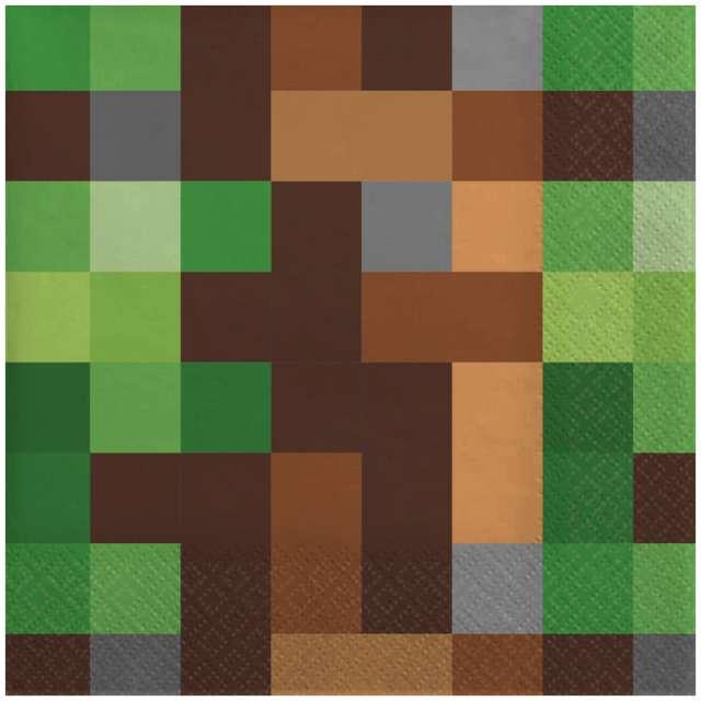 """Serwetki """"Piksel - TNT Party"""", Amscan, 33 cm, 16 szt"""