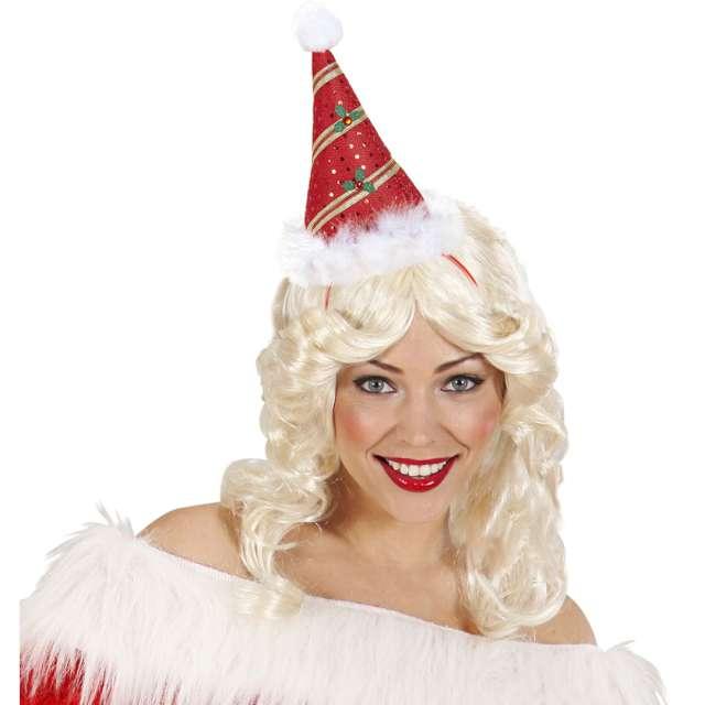 Opaska party Świąteczna czpeczka czerwona Widmann