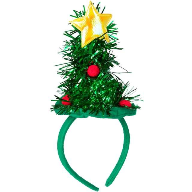 """Opaska party """"Świąteczna choinka"""", zielona, Widmann"""