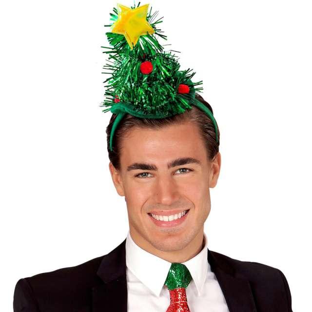 Opaska party Świąteczna choinka zielona Widmann
