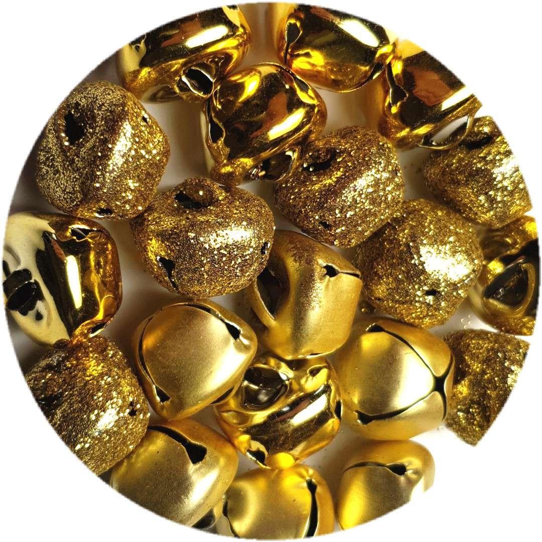 """Dzwoneczki dekoracyjne """"Classic"""", złote, Aliga, 15 mm, 20 szt"""